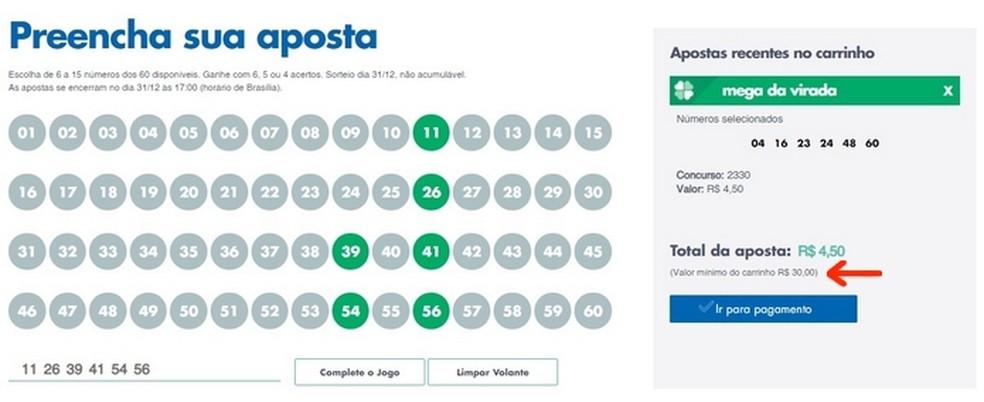 Inclusão de novo jogo na Mega da Virada para atingir mínimo de R$ 30 da aposta online  — Foto: Reprodução/Raquel Freire
