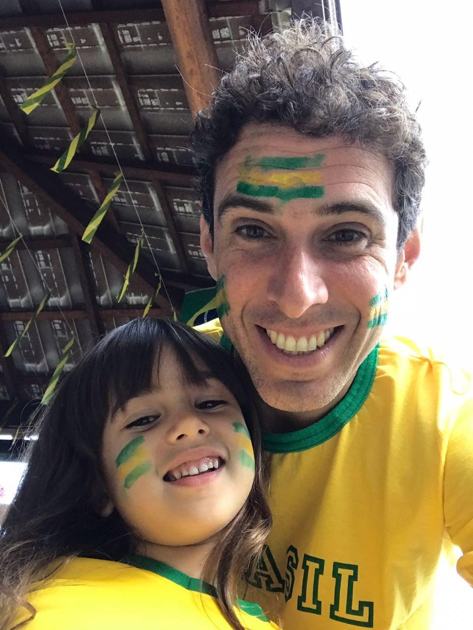 Bruno Cortês e a filha Júlia (Foto: Arquivo Pessoal)