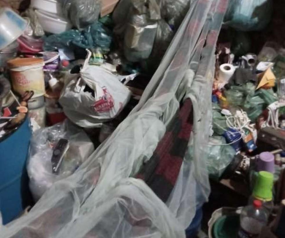 Idosa e duas mulheres com deficiência eram mantidas em condições subumanas dentro da própria casa.  — Foto: Divulgação/SSPDS