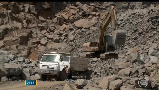'Riquezas do Piauí' mostra extração da pedra brita em Monsenhor Gil