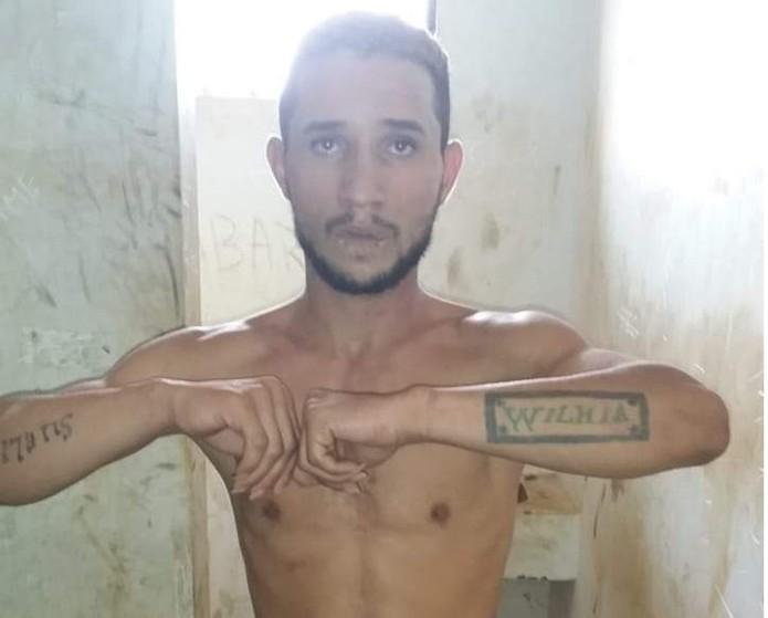 Pai de Lauanny segue preso em Ariquemes.  — Foto: Polícia Civil/Divulgação
