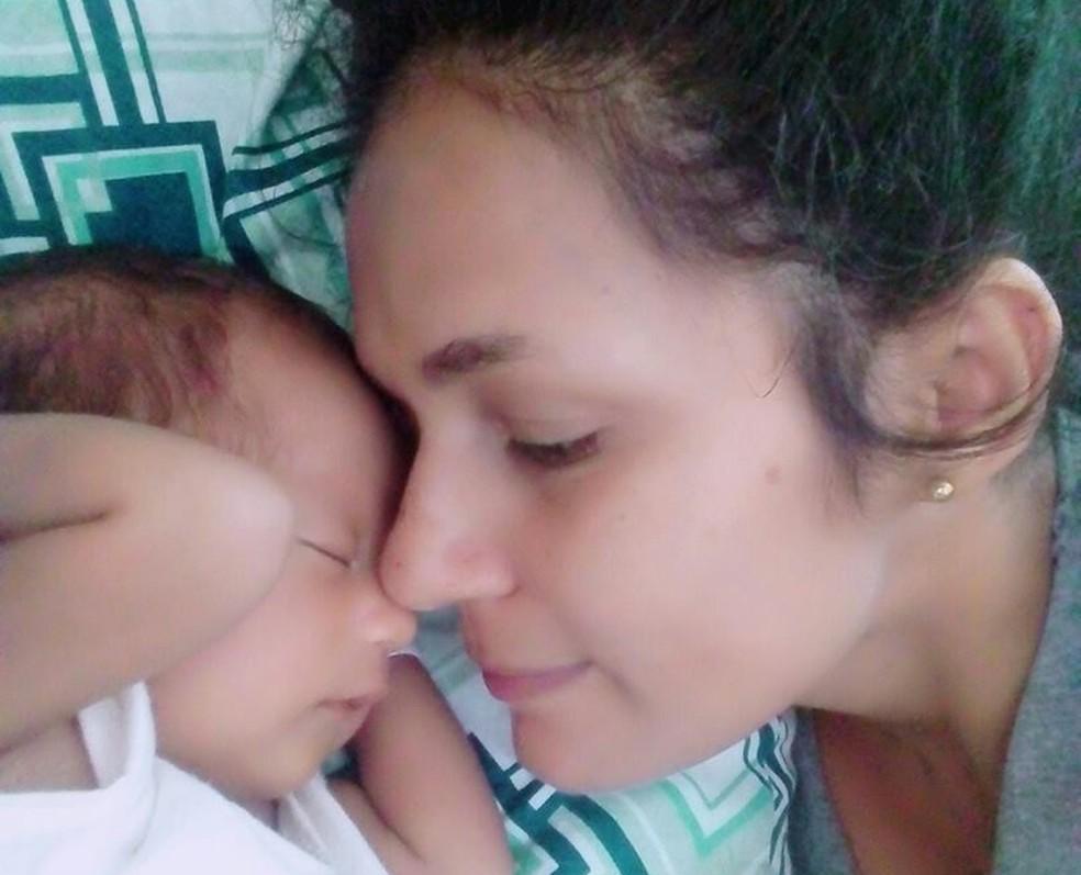 Mãe acredita que policial federal premeditou a morte da filha junto com a avó da criança — Foto: Arquivo pessoal