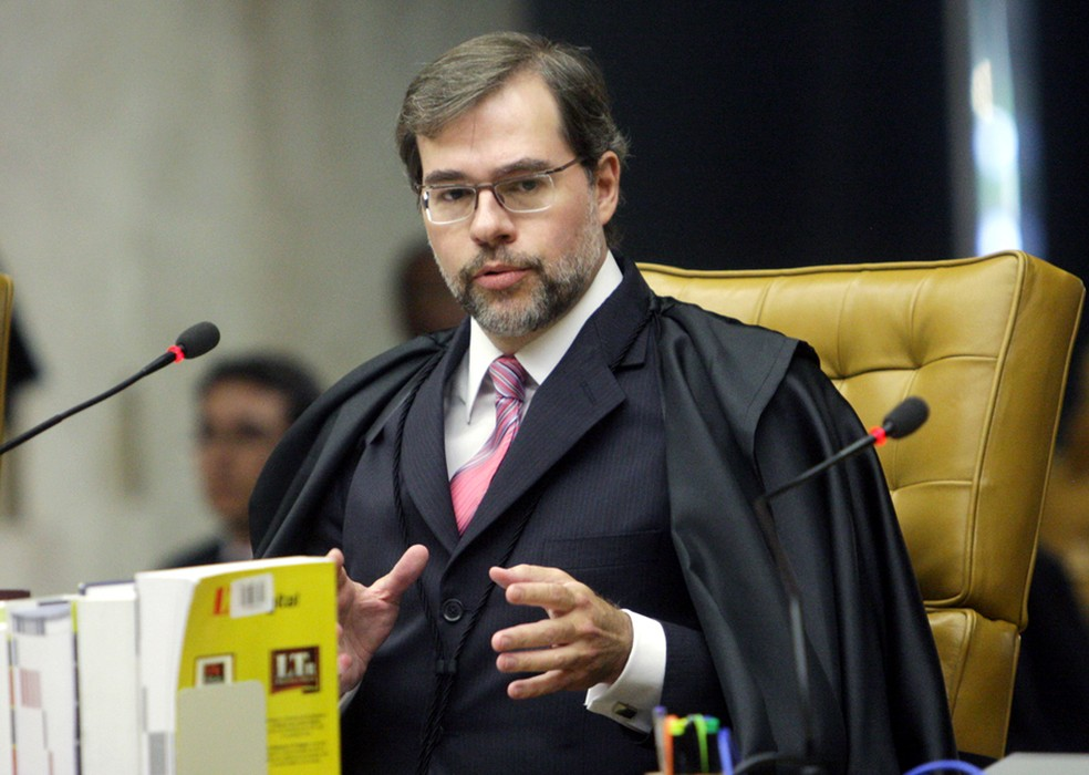 O ministro Dias Toffoli em sessão no Supremo (Foto: Fellipe Sampaio/SCO/STF)