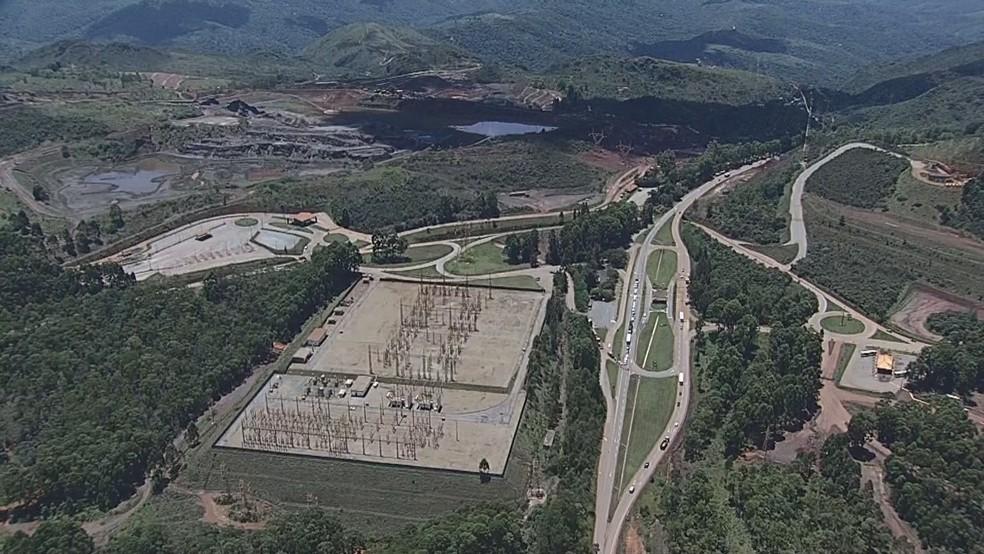Barragem de Vargem Grande, ao lado da BR-356 — Foto: Globocop