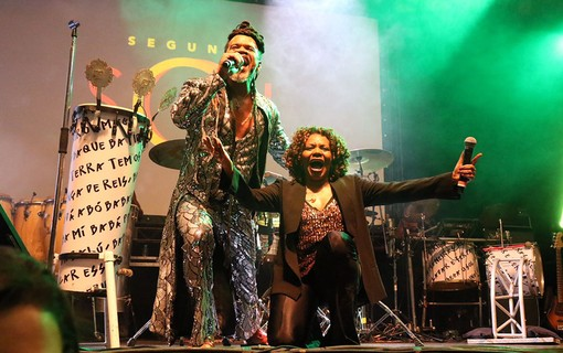 Carlinhos Brown com Margareth Menezes