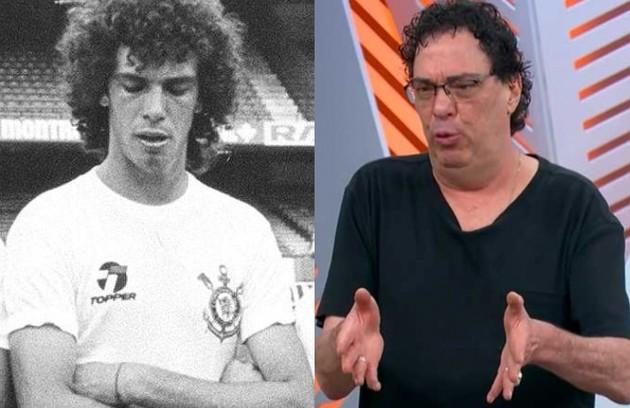 Walter Casagrande apareceu na novela como ele mesmo, numa passagem de Luca pelo Corinthians. Hoje, ele é comentarista na Globo e no SporTV (Foto: Reprodução)
