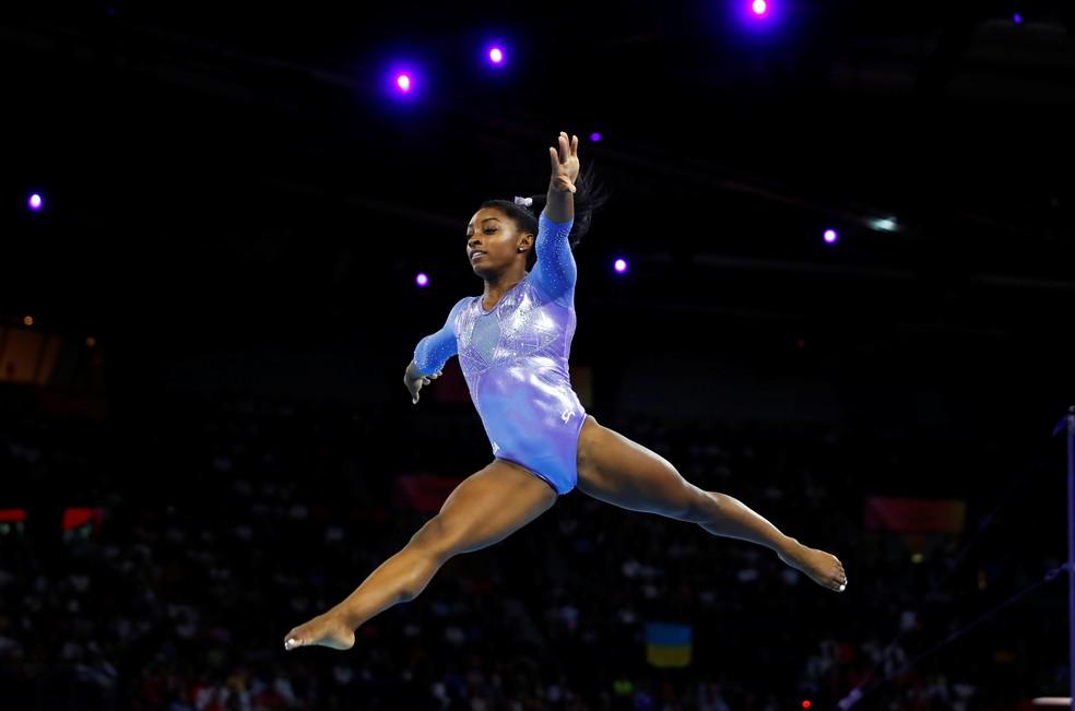 Simone Biles final solo Mundial de Ginástica — Foto: Wolfgang Rattay/Reuters