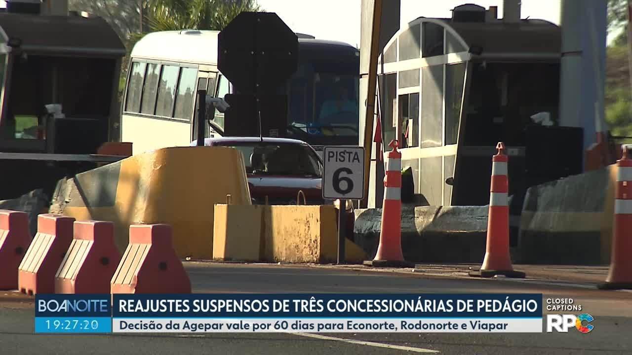 Reajustes estão suspensos em três concessionárias de pedágio no Paraná