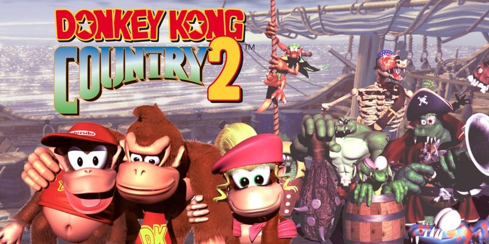 Donkey Kong Country 2: Diddy's Kong Quest é um belo plataforma em um mundo com temática de piratas — Foto: Divulgação/Nintendo