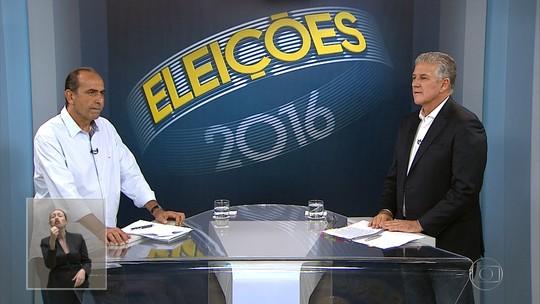 Debate da TV Globo Minas reúne dois candidatos à Prefeitura de BH