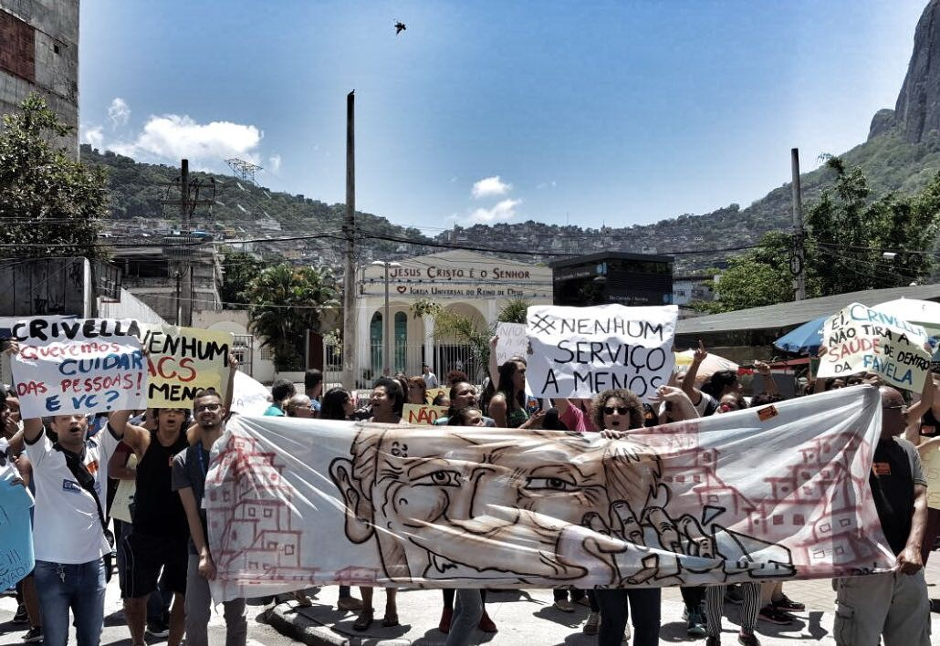 Os protestos aconteceram em quase toda a cidade