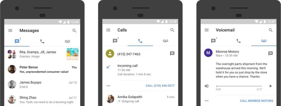 Google Voice permite fazer ligações telefônicas pela Internet — Foto: Divulgação/Google