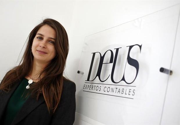 Marta Deus, de 29 anos, fundadora da Deus Expertos Contables (Foto: EFE)