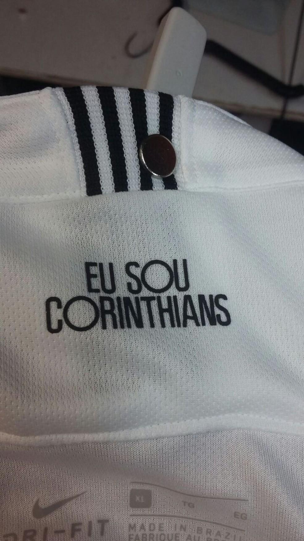 """""""Eu sou Corinthians"""" é a frase da nova camisa  (Foto: Reprodução)"""