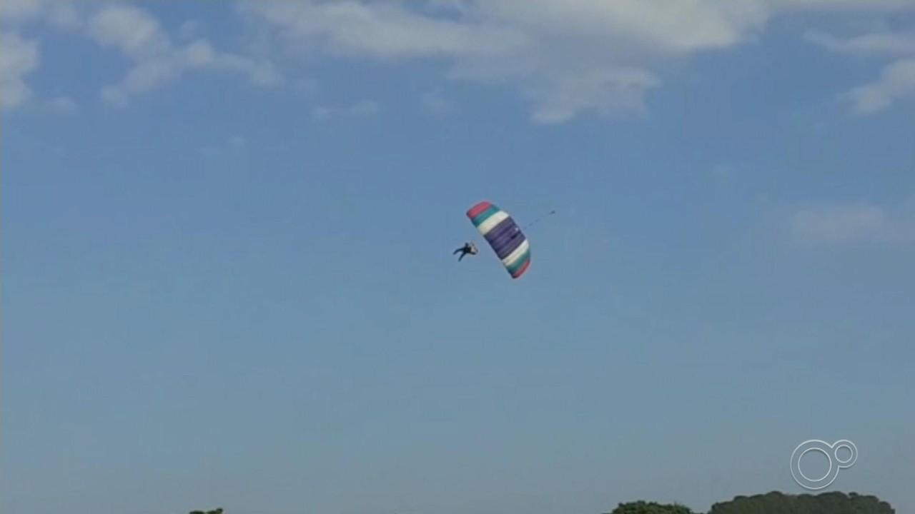 Homem morre após perder controle de paraquedas e cair em Boituva