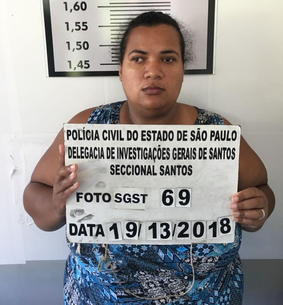 Elaine Cristina foi localizada e presa após estuprar adolescente em Santos, SP (Foto: Divulgação/Polícia Civil)