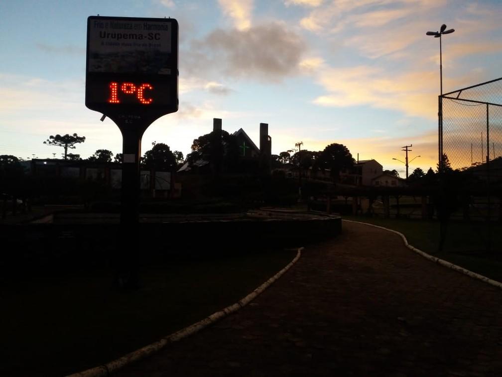 Início da manhã em Urupema (Foto: Marcelo Macedo/ Arquivo pessoal)