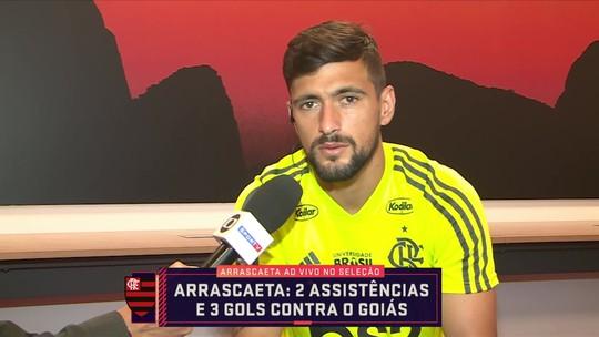 """Arrascaeta comemora sequência com Jorge Jesus no Flamengo: """"Ele me passou muita confiança"""""""