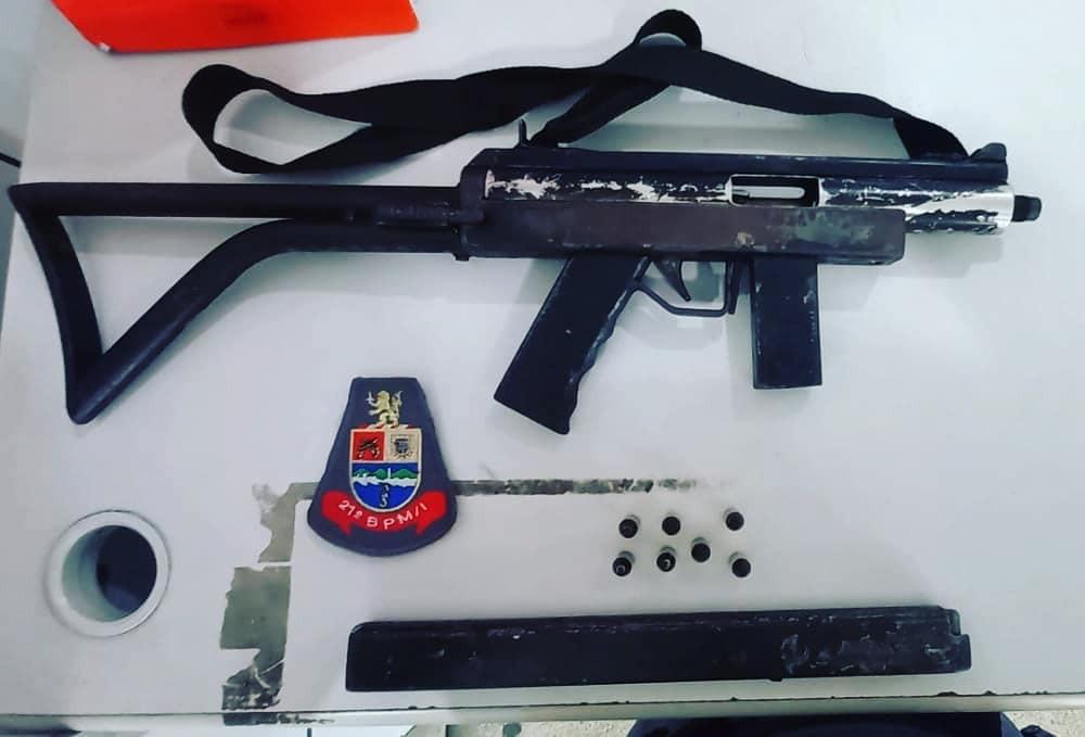 Polícia Militar apreende metralhadora em Guarujá, SP
