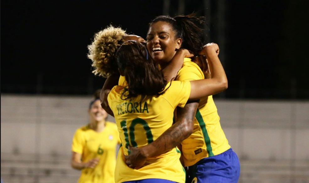 e8caa887de Seleção feminina faz 8 a 1 no Paraguai e conquista Sul-Americano Sub ...