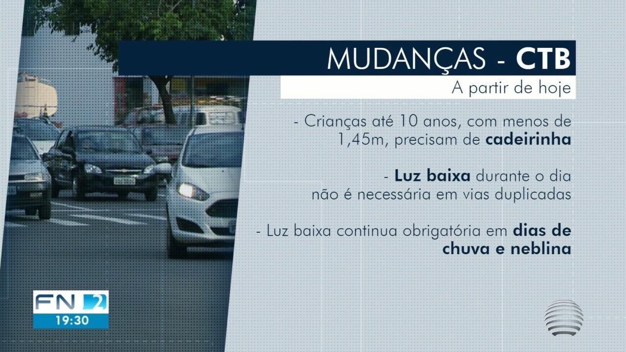 Mudanças no Código de Trânsito Brasileiro entram em vigor