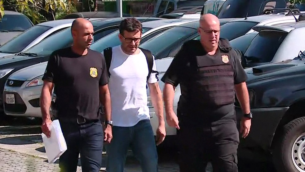 Arthur Mário Pinheiro Machado foi preso em São Paulo (Foto: Leandro Cotrim/GloboNews)