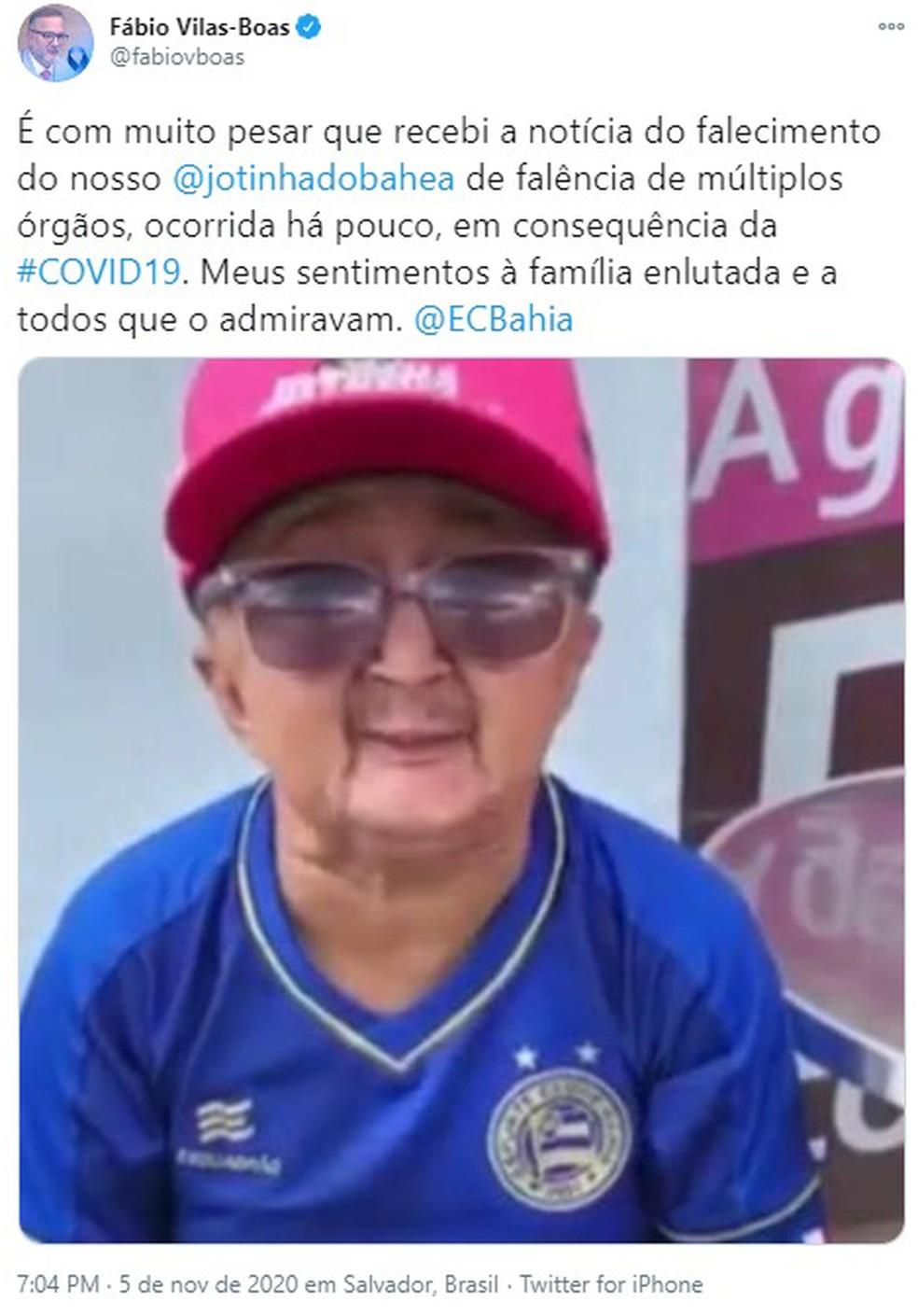 Humorista Jotinha morre após falência de múltiplos órgãos, diz Secretário de saúde da BA — Foto: Reprodução / Redes Sociais