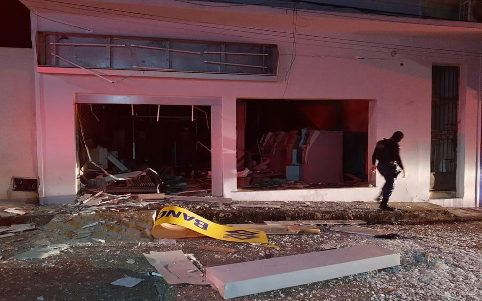 Explosão a banco em Carira (SE) — Foto: 3º BPM/Divulgação