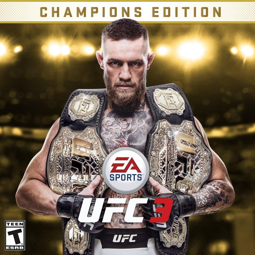 EA Sports UFC 3 traz Connor McGregor como capa do game (Foto: Reprodução)