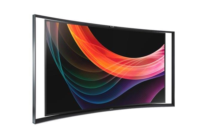 TV Samsung OLED com tela curvada traz duas imagens simultaneas em Full HD (Foto: Divulgação/Samsung)