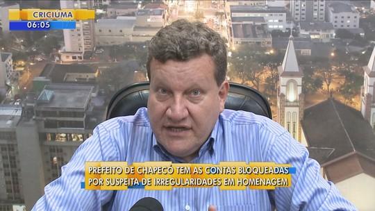 Justiça decreta bloqueio de contas do prefeito de Chapecó