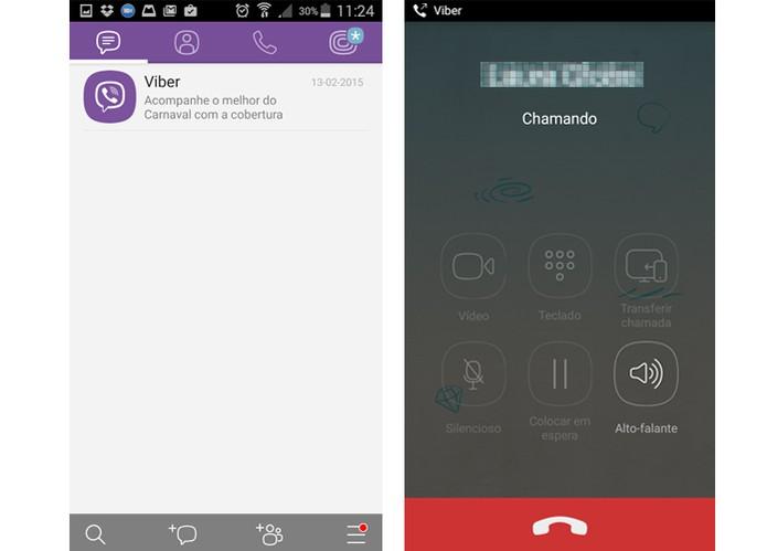 Viber permite fazer chamadas de vídeo entre usuários (Foto: Reprodução/Barbara Mannara)