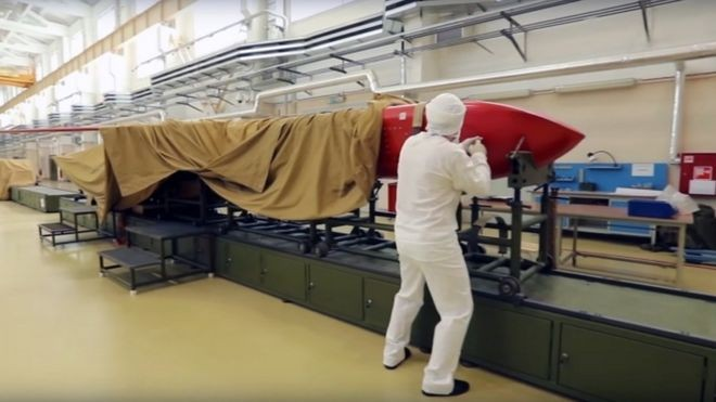 Governo russo divulgou imagens de testes feitos com os novos armamentos (Foto: EPA via BBC)