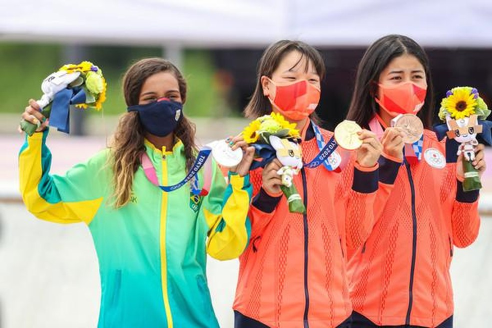 """Rayssa Leal conquista prêmio do COI pelo seu """"Espírito Olímpico"""" nos jogos de Tóquio — Foto: Wander Roberto/COB"""