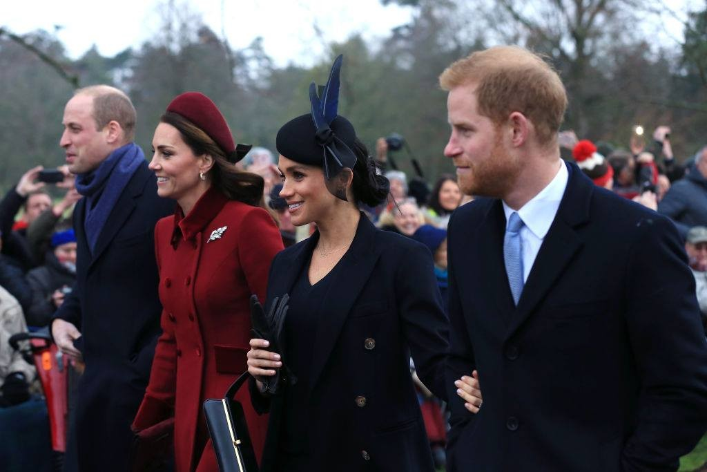William, Kate, Meghan e Harry (Foto: Getty Images)