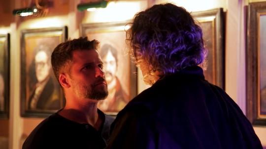 Bruno Gagliasso e Eduardo Moscovis falam sobre o primeiro encontro entre Gabriel e León