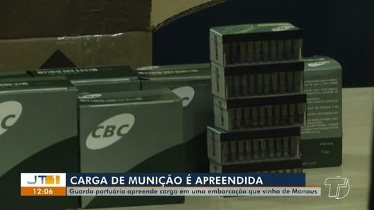 Quase 500 munições são apreendidas pela Guarda-Portuária durante vistoria no porto da CDP