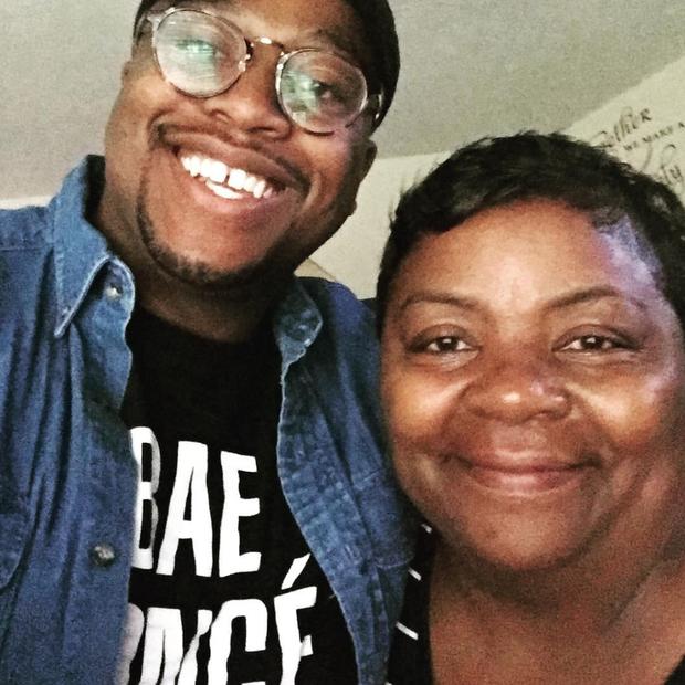 Myles e Mama Tammye (Foto: Instagram Myles Hicks/ Reprodução)