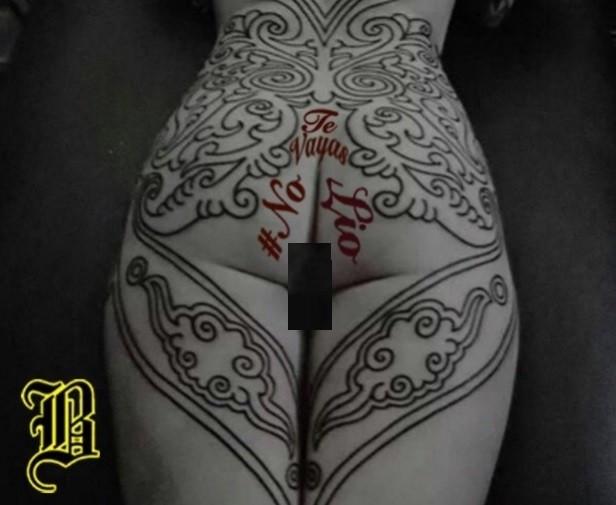 A 'tatuagem' nas nádegas da modelo argentina