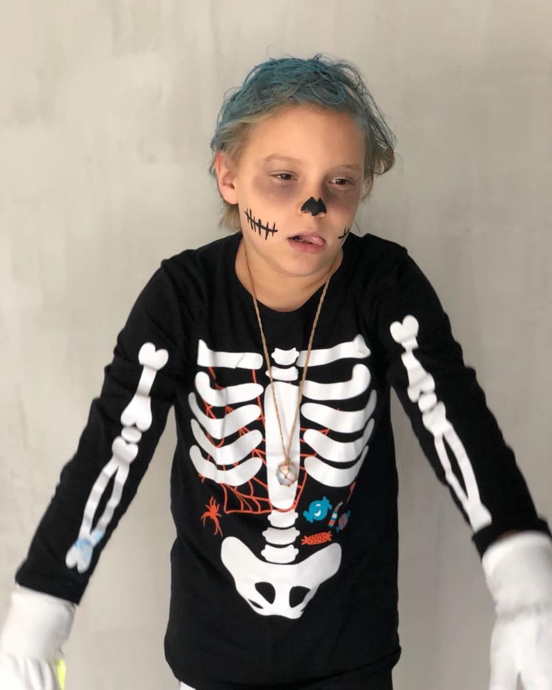 Davi Lucca pronto para o Halloween (Foto: Reprodução Instagram)
