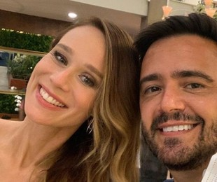 Mariana Ximenes com o autor de 'Salve-se quem puder', Daniel Ortiz | Reprodução