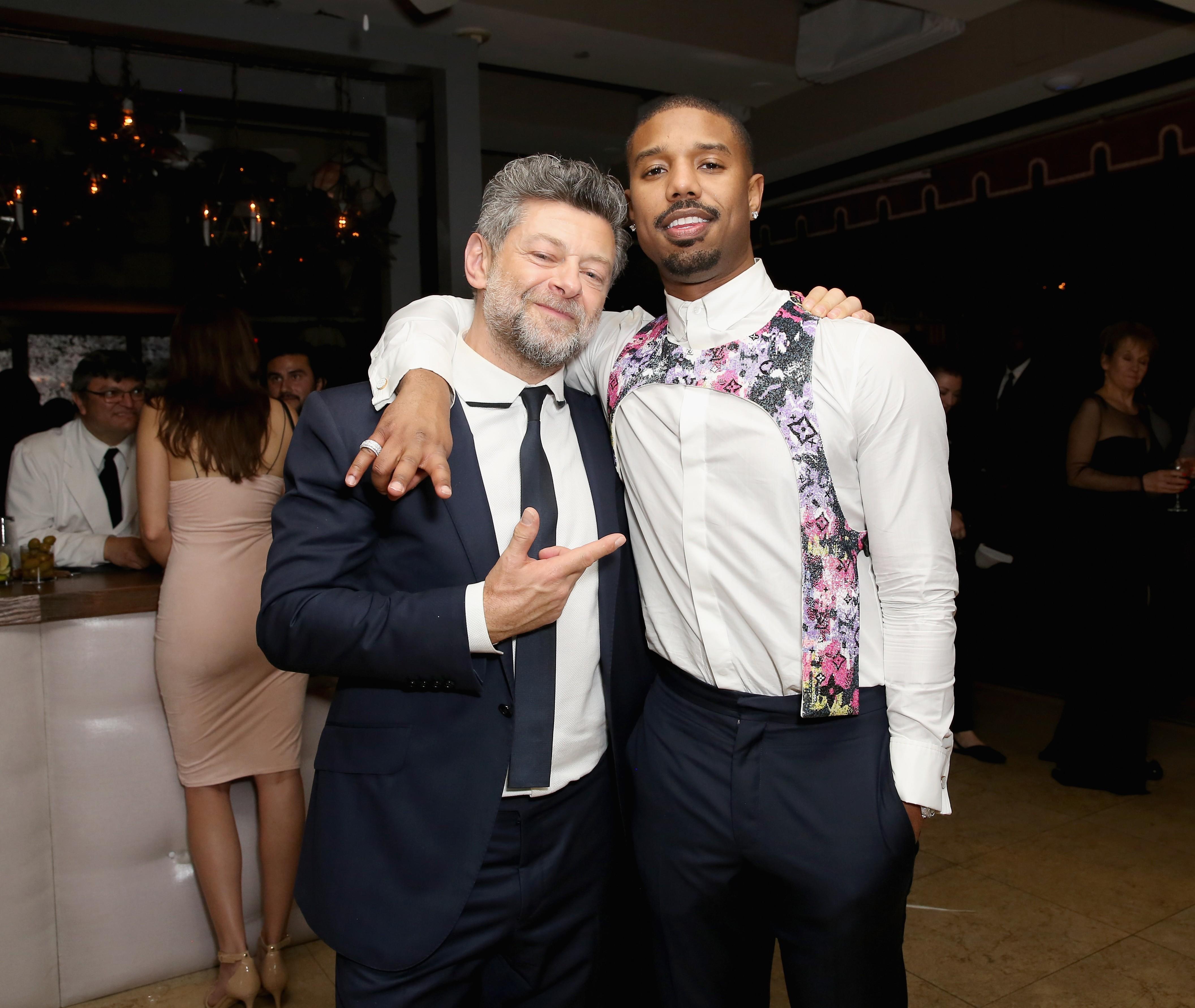 Andy Serkis e Michael B. Jordan (Foto: Getty Images)