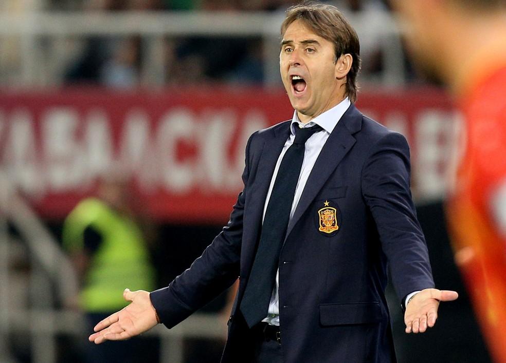 Julen Lopetegui Espanha x Macedônia (Foto: Reuters)