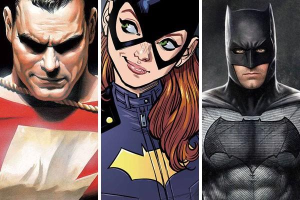 Enquanto a presença de Shazam já é certa nos próximos filmes da DC, o mesmo não pode ser dito sobre Batgirl e o próprio Batman. Contudo, seus nomes seguem em possíveis filmes solo (Foto: Reprodução)