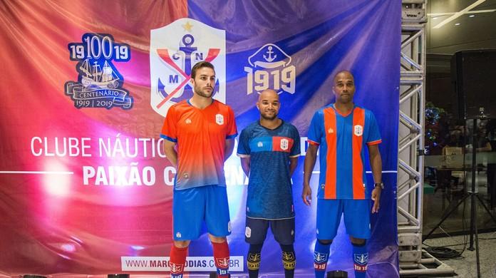 Marcílio Dias lança uniformes para 2019 com homenagem aos 100 anos do clube   d200fd3156694