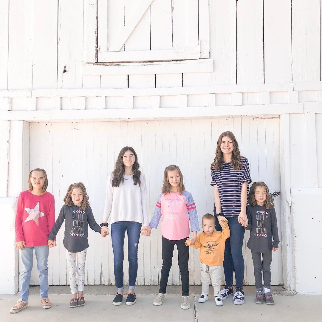 Os sete filhos  (Foto: Reprodução / Instagram)