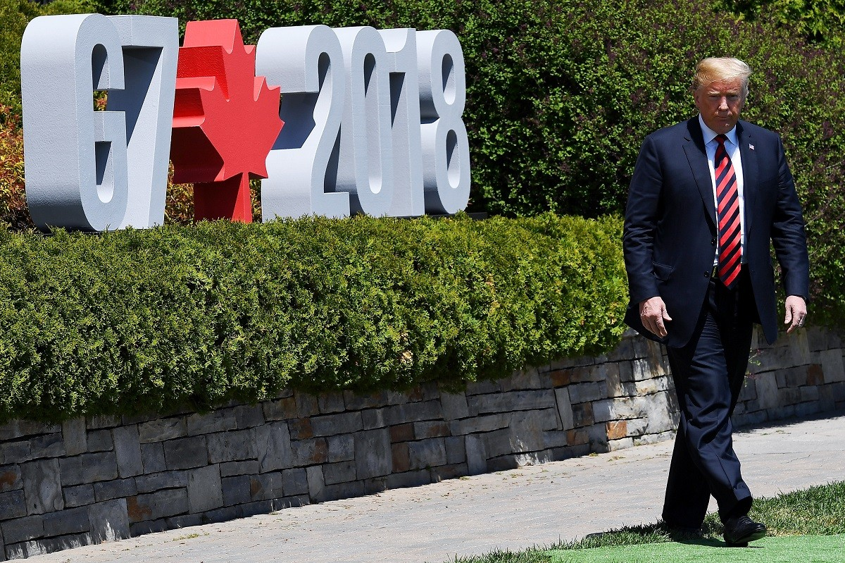 Donald Trump, presidente dos Estados Unidos, em cúpula do G7 (Foto: Leon Neal/Getty Images)