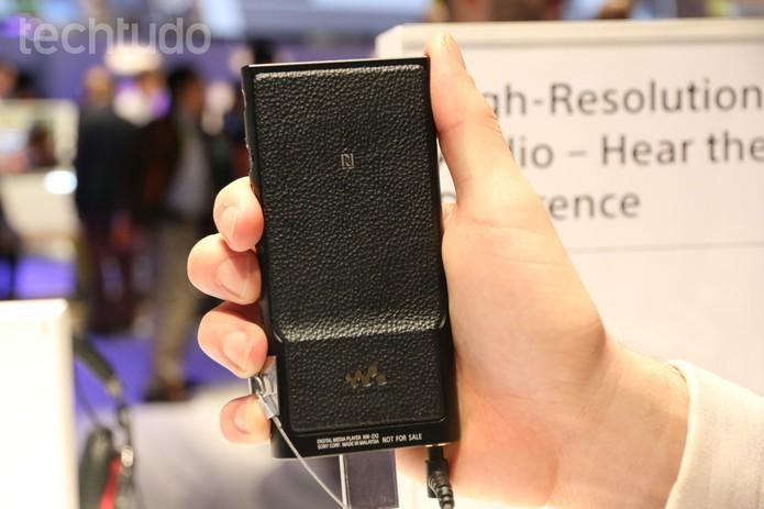 Sony Walkman NW-ZX2 (Foto: Isadora Díaz/ TechTudo)