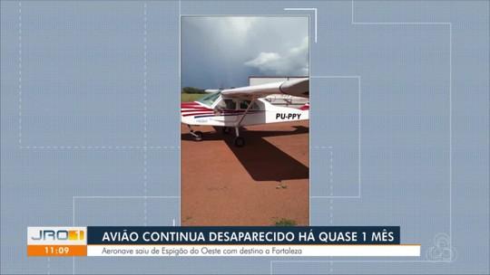 Desaparecimento de avião que decolou de Rondônia completa um mês