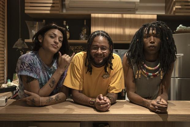 Pabllo Vittar, Emicida e Majur (Foto: Ney Coelho/Divulgação)